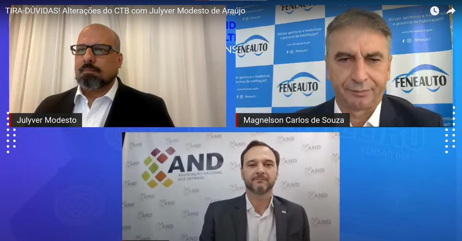 Veja como foi a live da Feneauto sobre as alterações no CTB