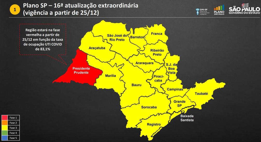 Região de Presidente Prudente fica na fase vermelha de 25/12 a 06/01; entenda