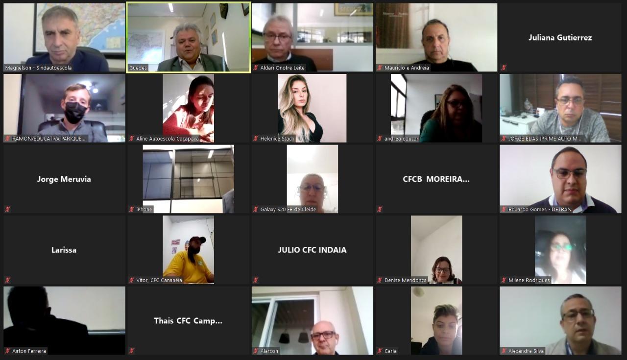 O Sindautoescola.SP realizou a 5ª Reunião Regional Digital